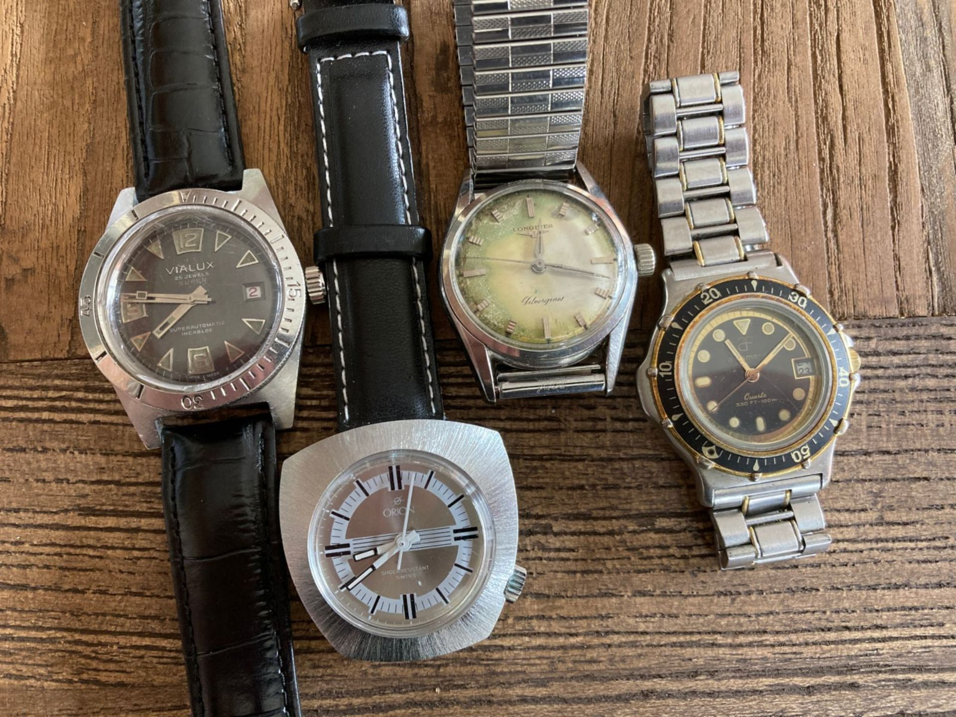 MIXED WATCHES INC LONGINES, ORION, VIALUX