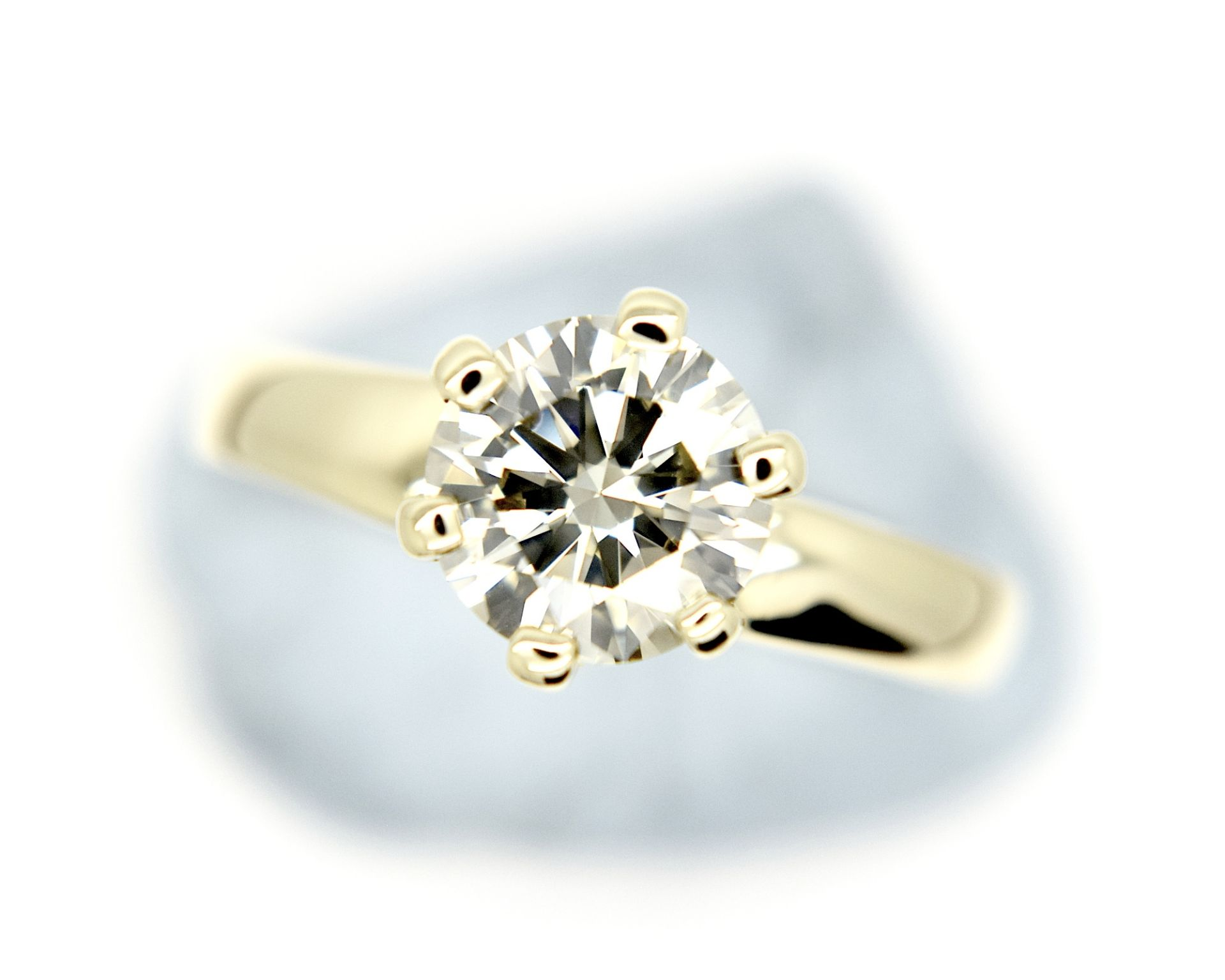 1.54CT DIAMOND SOLITAIRE RING Y. GOLD (ROUND BRILLIANT) - 2012 VALUATION £6,200 INCLUDED