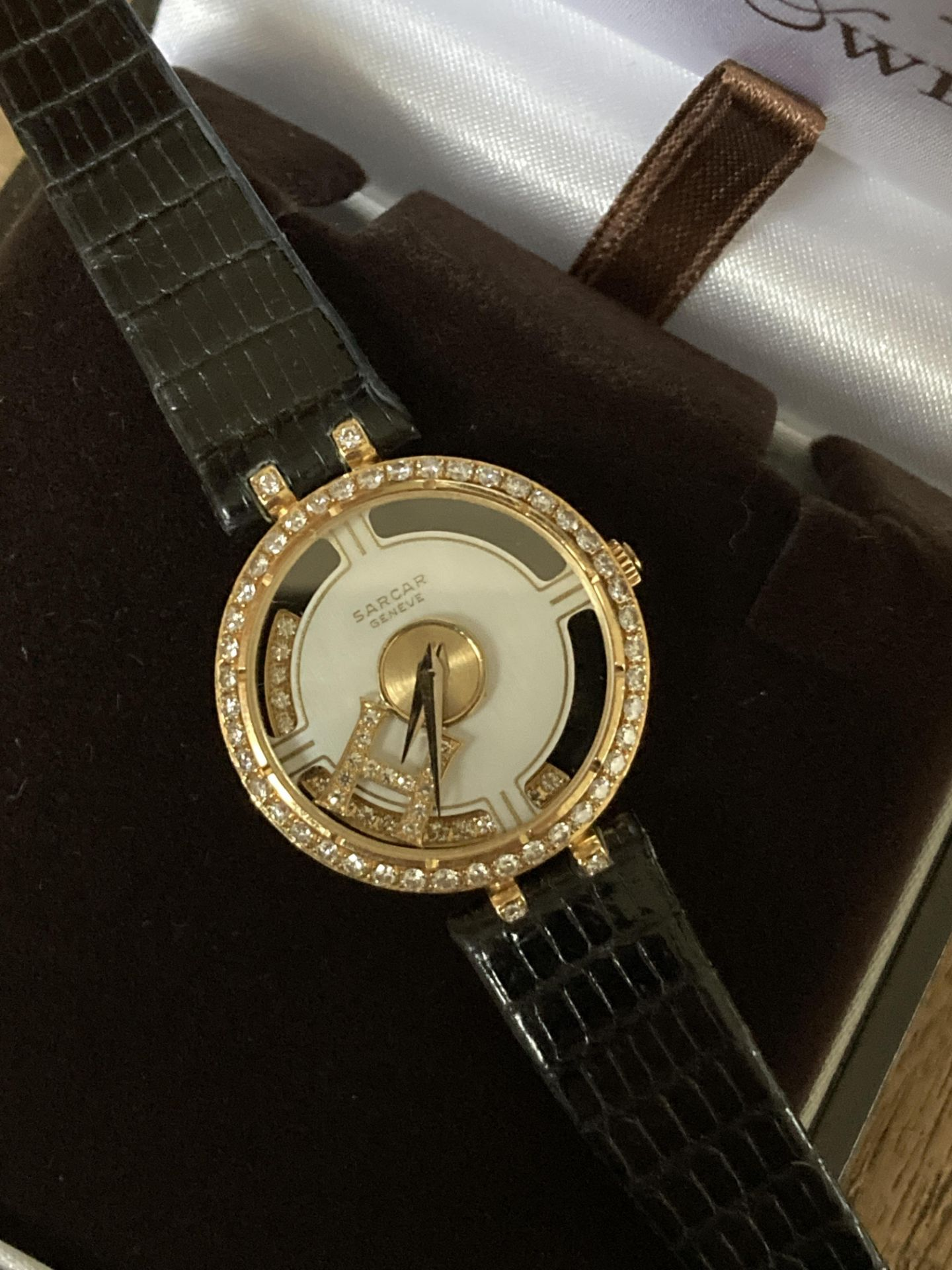 SARCAR GENEVE DIAMOND SET WATCH - 25MM