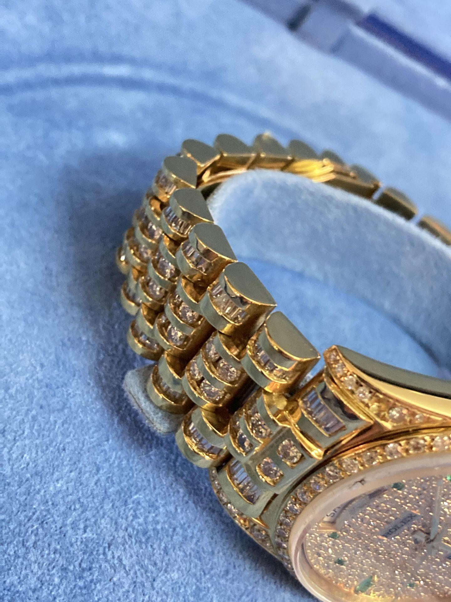 GENTS 36mm ROLEX DAYDATE YELLOW GOLD DIAMOND WATCH - Image 8 of 21