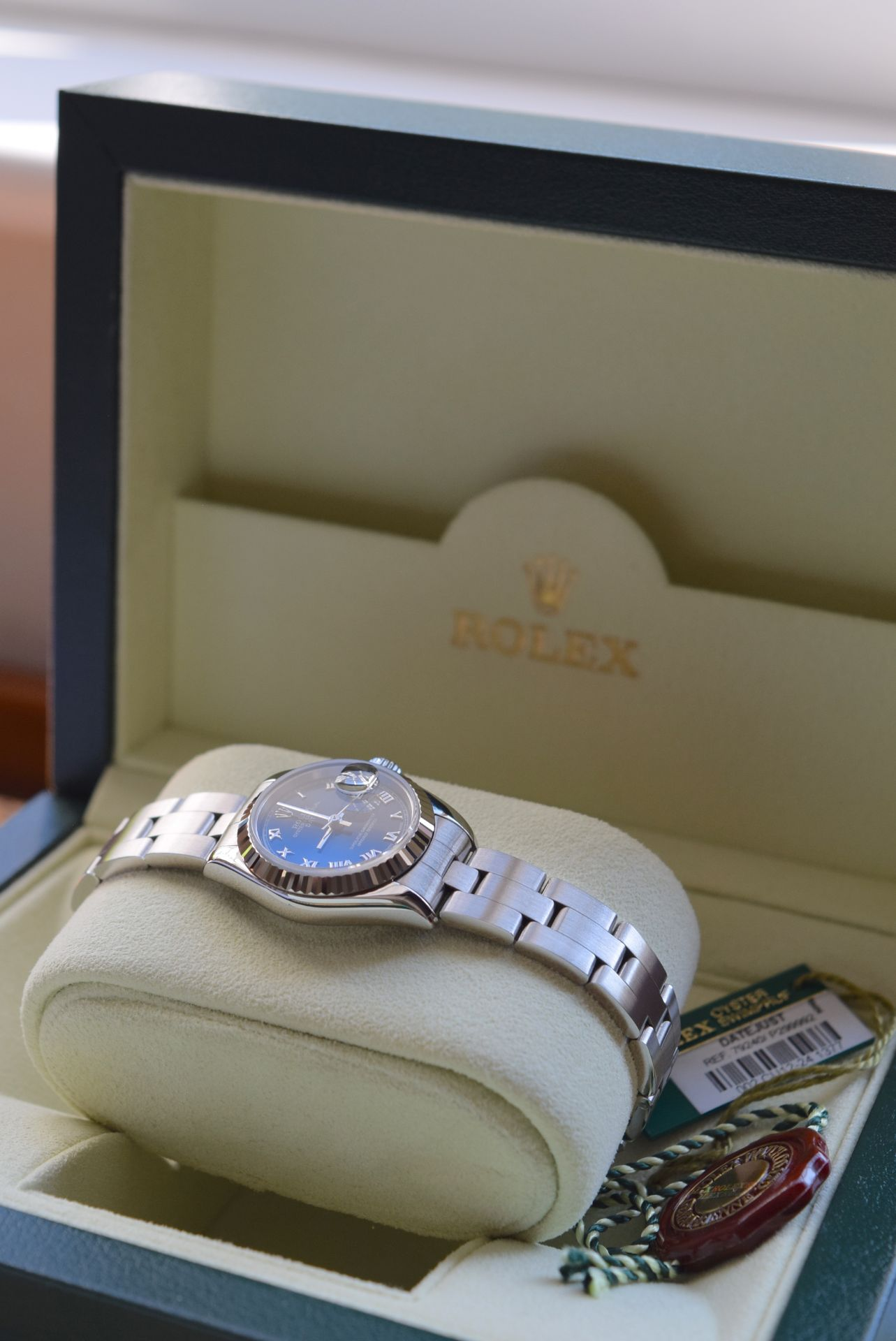 *FULL SET* ROLEX DATEJUST (LADIES) STEEL & 18CT WHITE GOLD - NAVY BLUE 'ROMAN NUMERAL' DIAL - Image 4 of 19