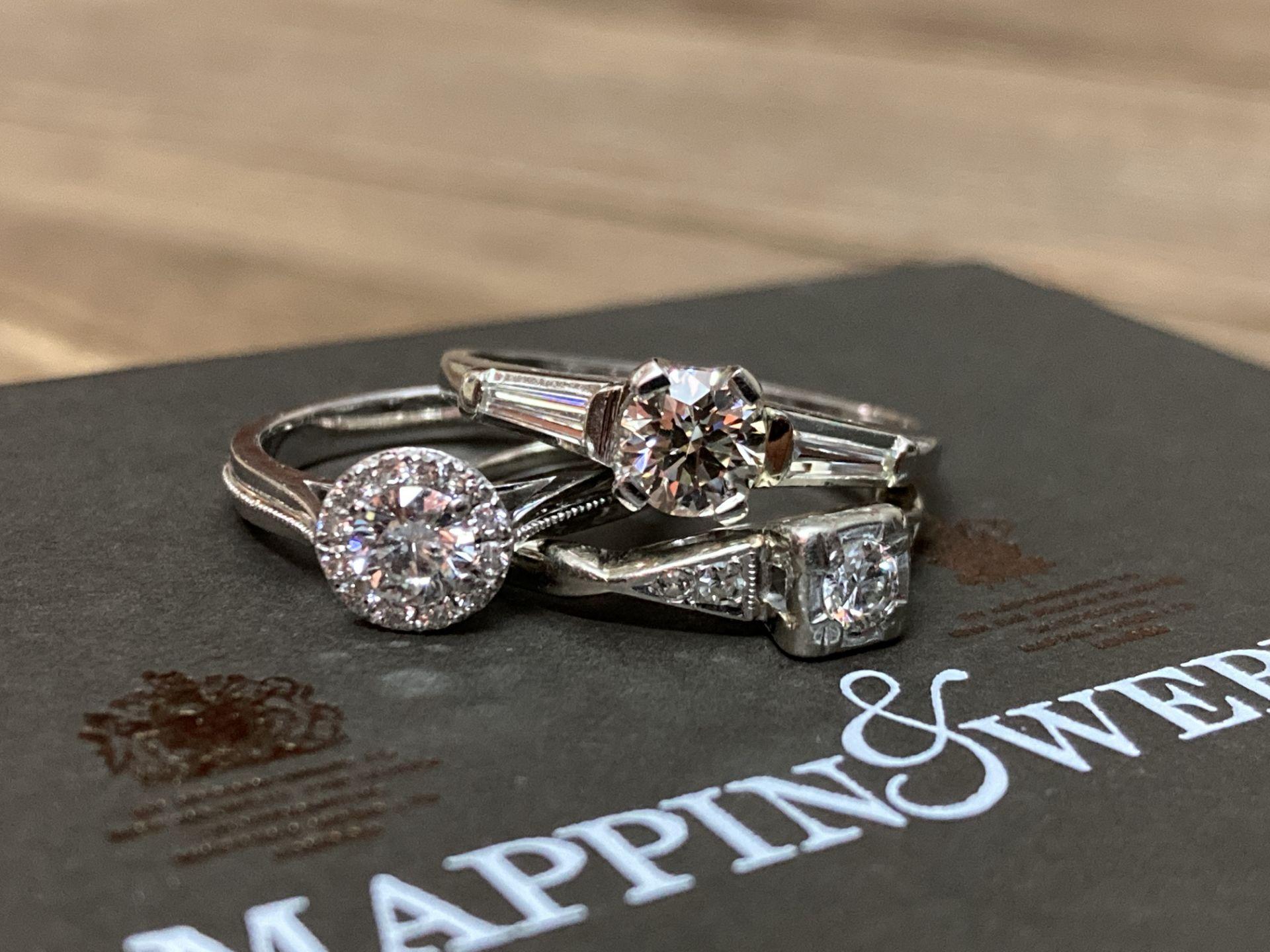 BEAUTIFUL TRIO OF DIAMOND RINGS - Image 4 of 6