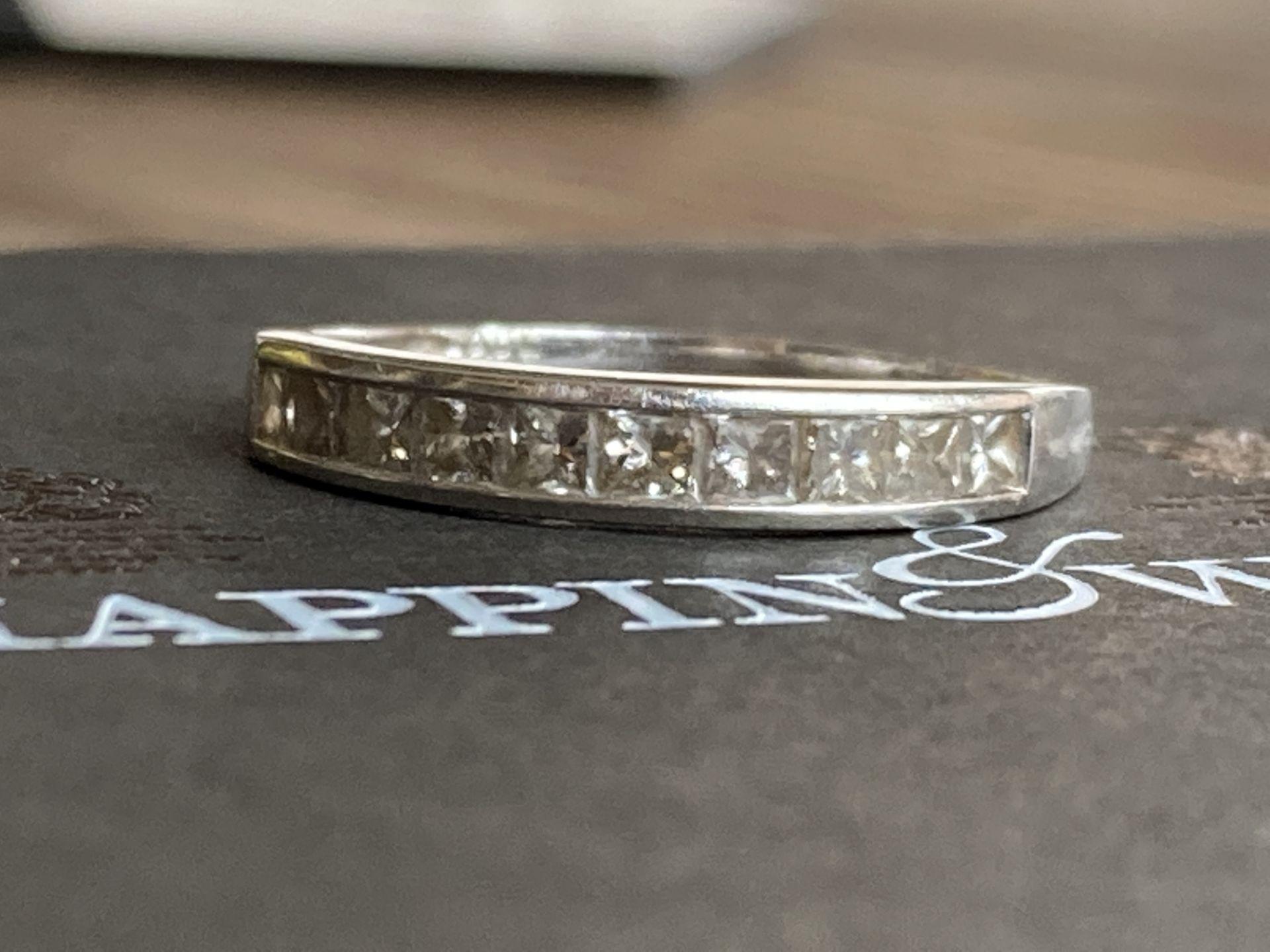 PLATINUM 0.5CT DIAMOND RING