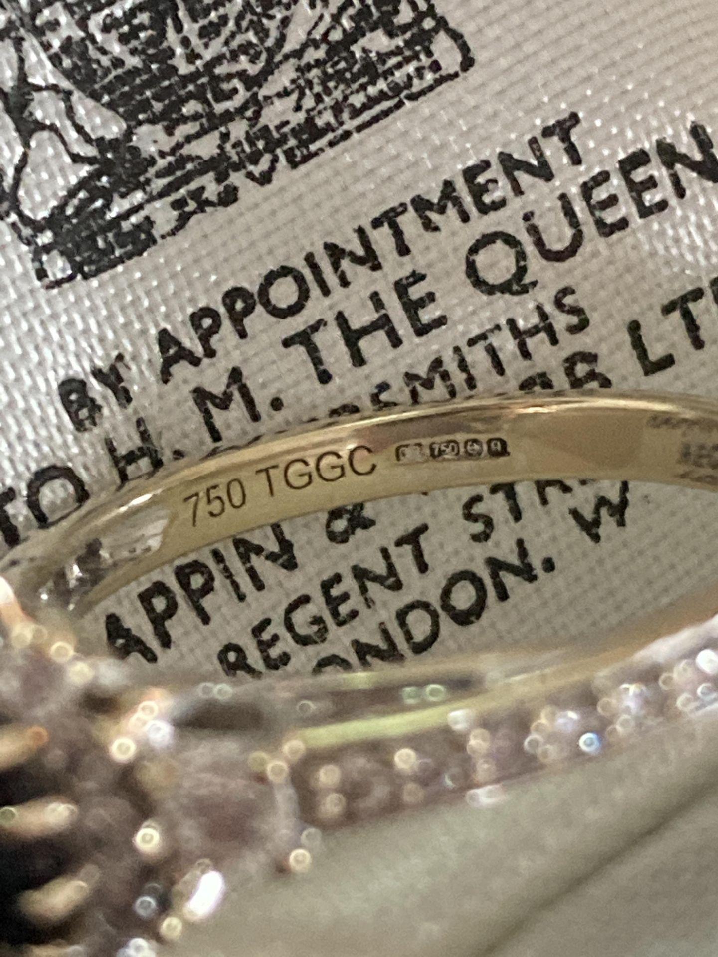 18K GOLD DIAMOND & SAPPHIRE RING - SIZE N /12 - Image 6 of 6