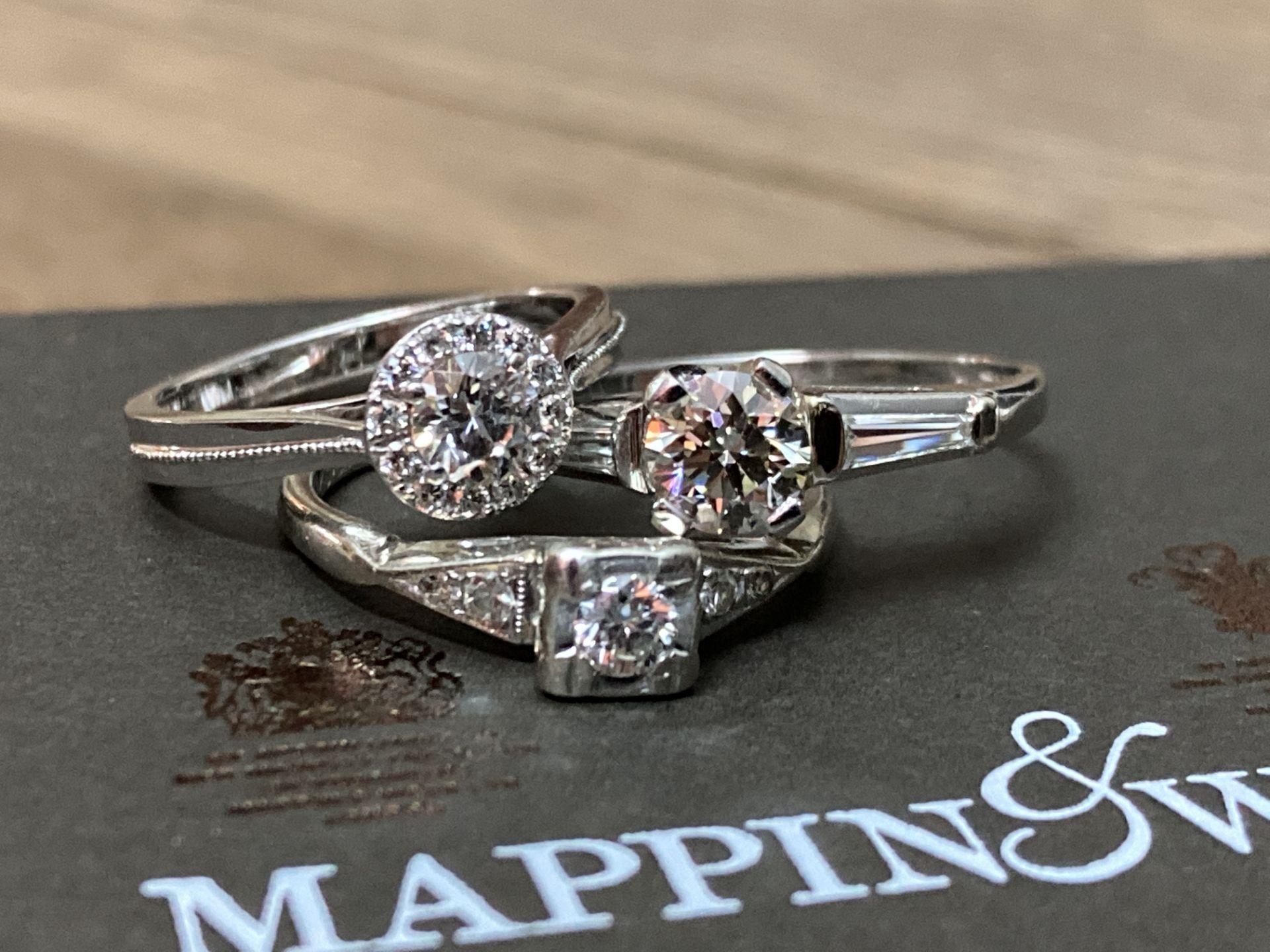 BEAUTIFUL TRIO OF DIAMOND RINGS - Image 2 of 6