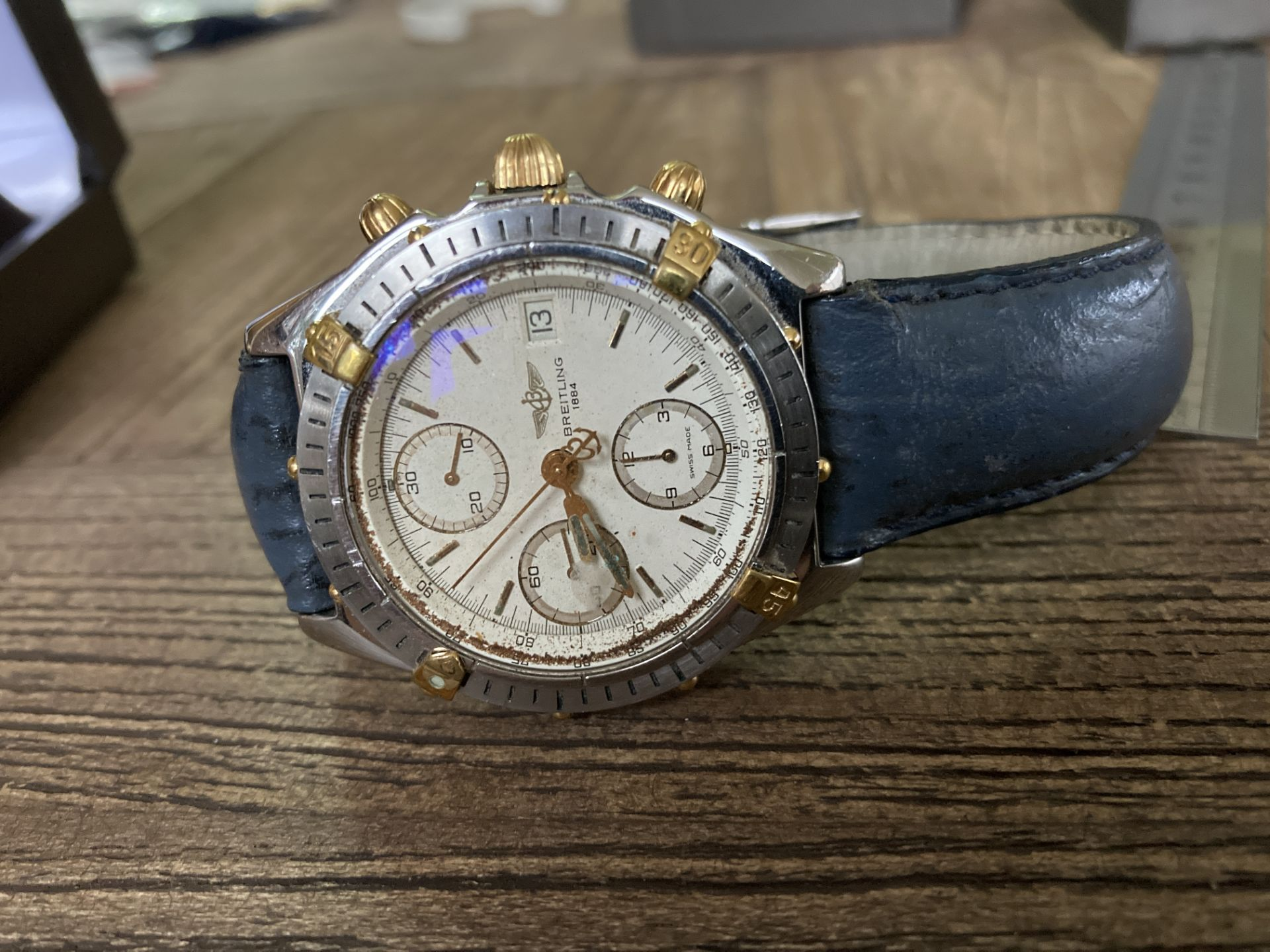 BREITLING B13048 STEEL AND GOLD CHRONO - 39MM APPROX.