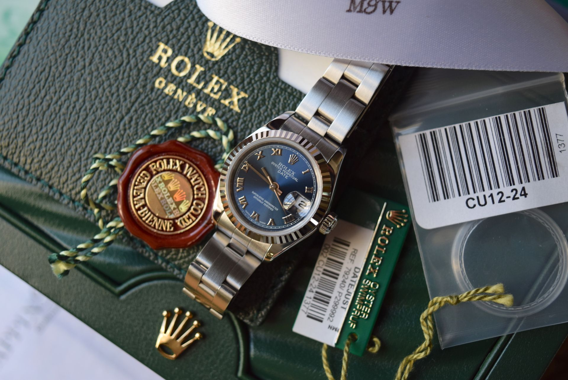 *FULL SET* ROLEX DATEJUST (LADIES) STEEL & 18CT WHITE GOLD - NAVY BLUE 'ROMAN NUMERAL' DIAL - Image 11 of 19