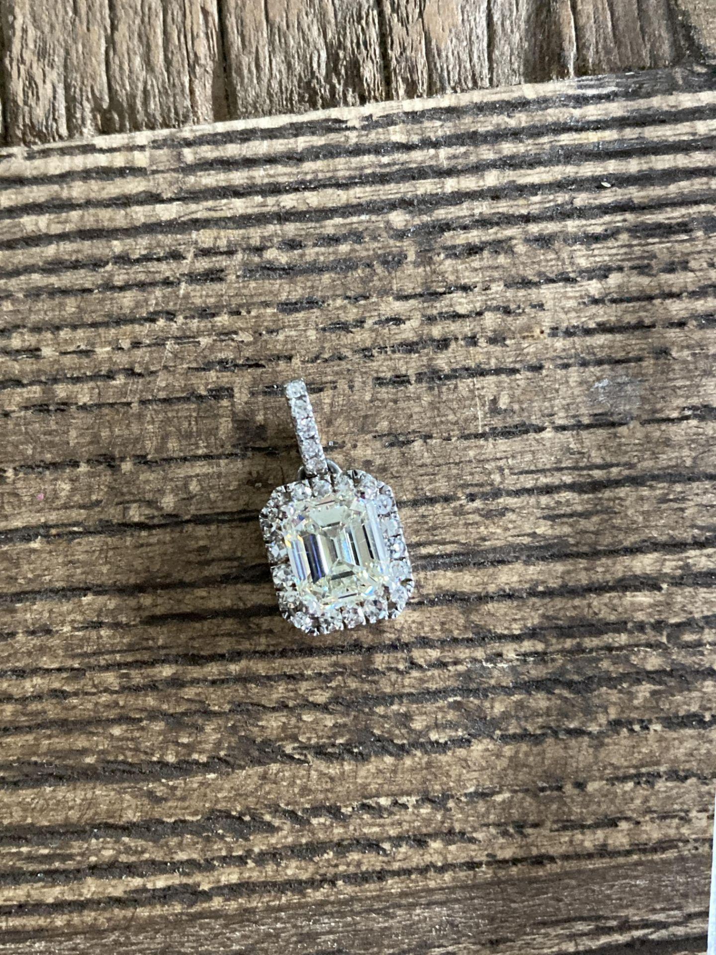 2.14CT DIAMOND PENDANT - 14K WHITE GOLD (WGI CERTIFICATE) - Image 2 of 4