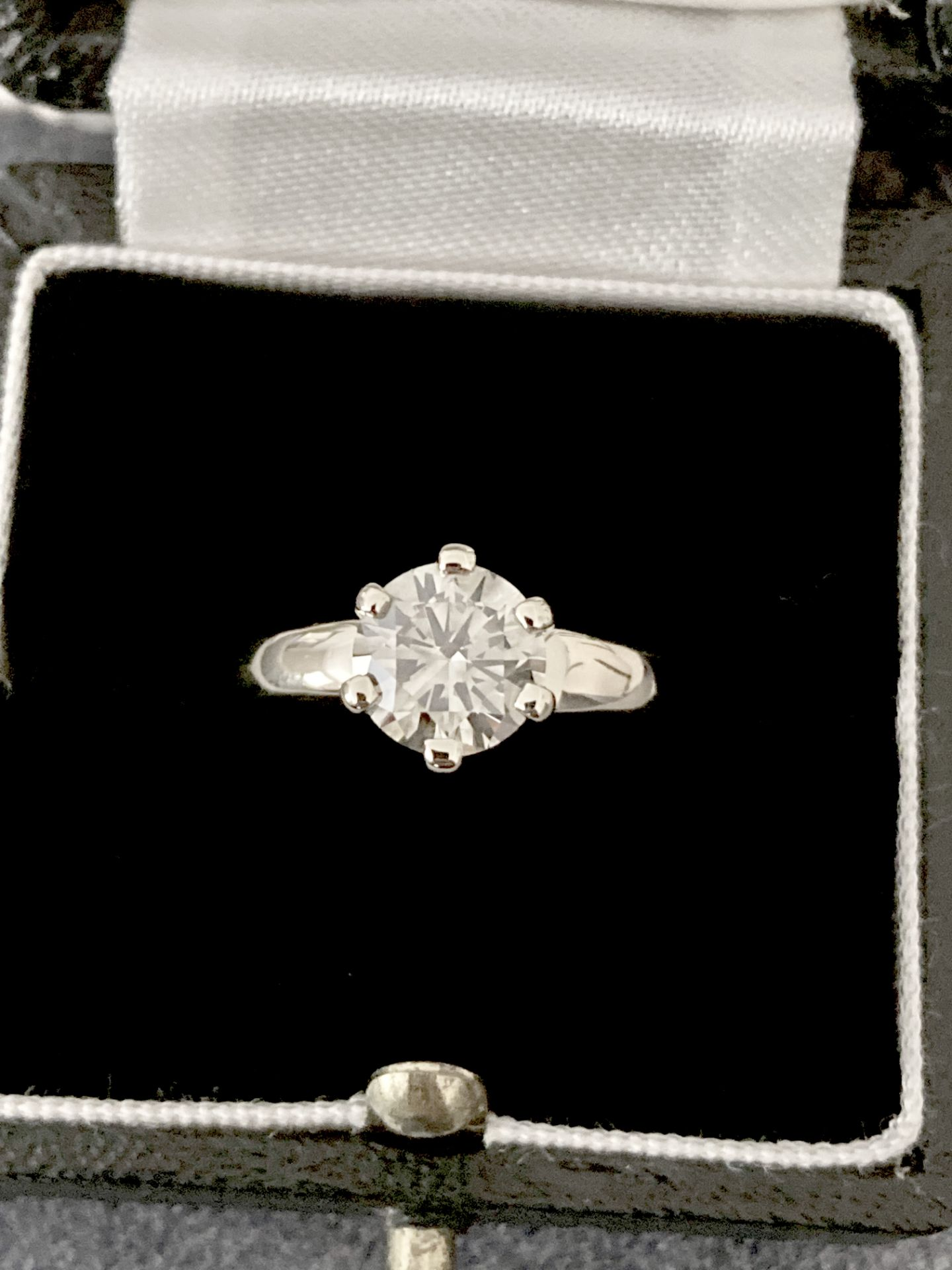 1.54CT DIAMOND SOLITAIRE RING Y. GOLD (ROUND BRILLIANT) - 2012 VALUATION £6,200 INCLUDED - Image 12 of 14