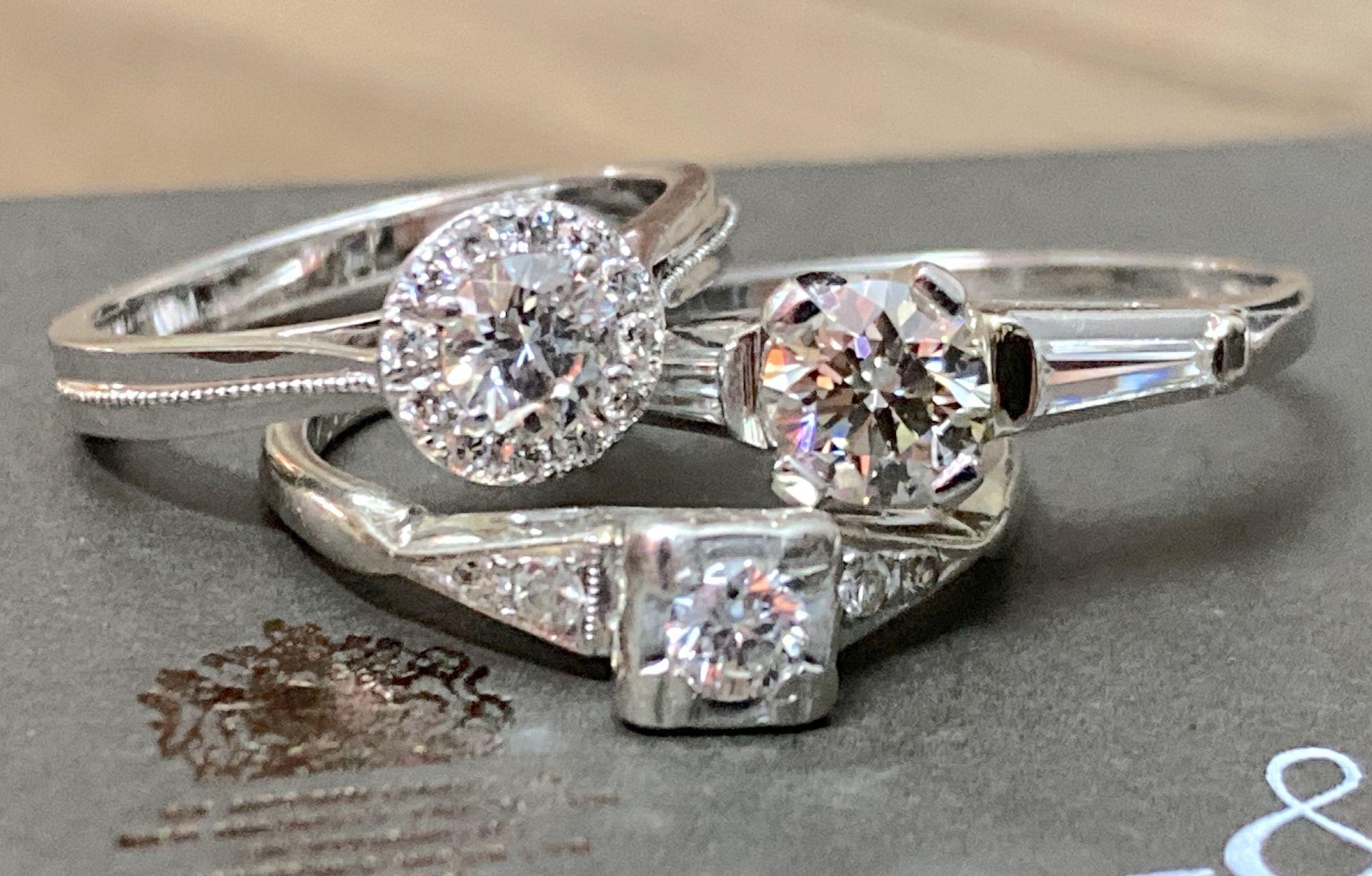 BEAUTIFUL TRIO OF DIAMOND RINGS