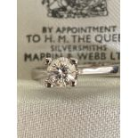 0.4CT DIAMOND SOLITAIRE RING IN 18CT WHITE GOLD - SIZE: M / WEIGHT: 3.3G