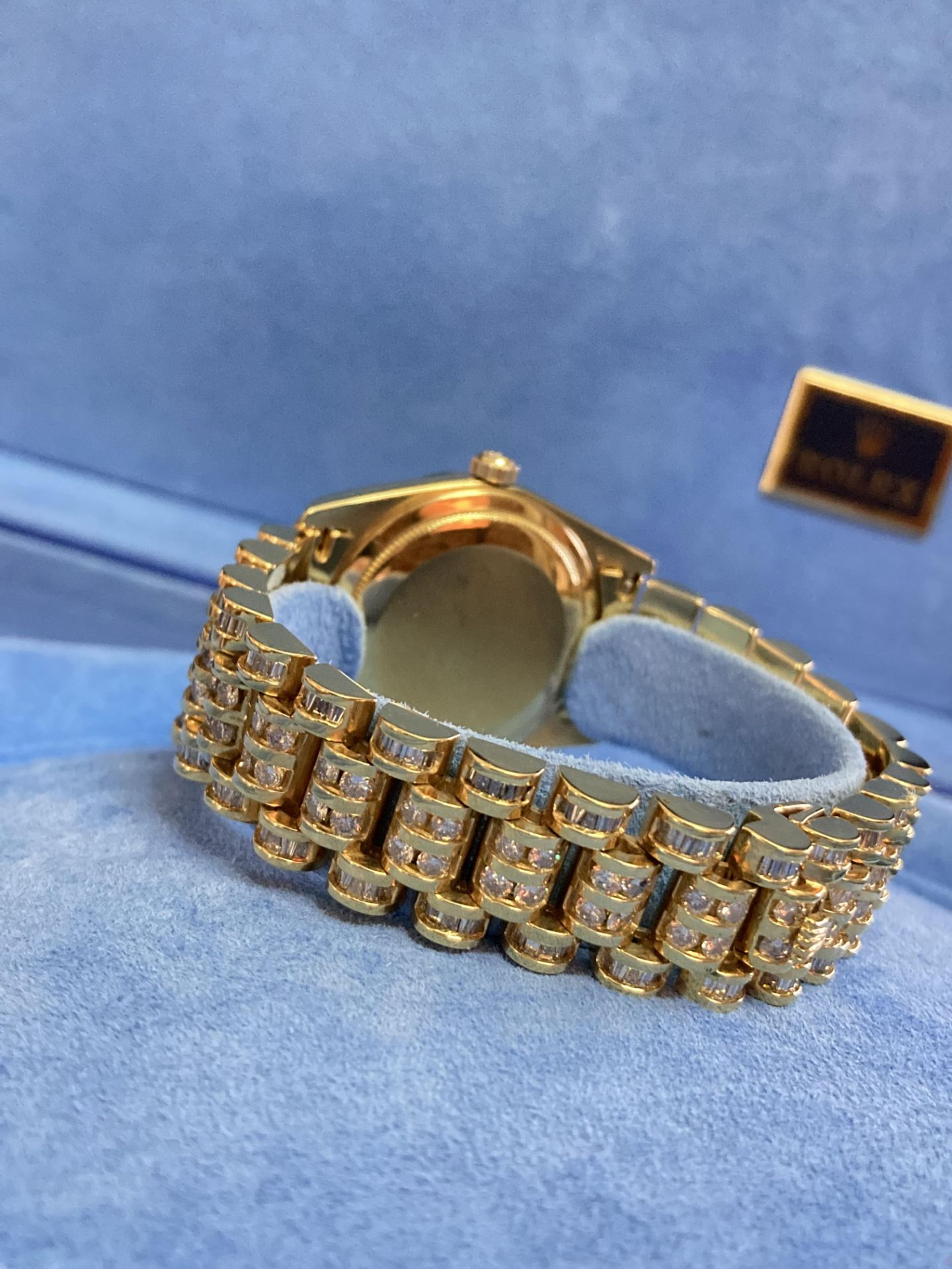 GENTS 36mm ROLEX DAYDATE YELLOW GOLD DIAMOND WATCH - Image 12 of 21