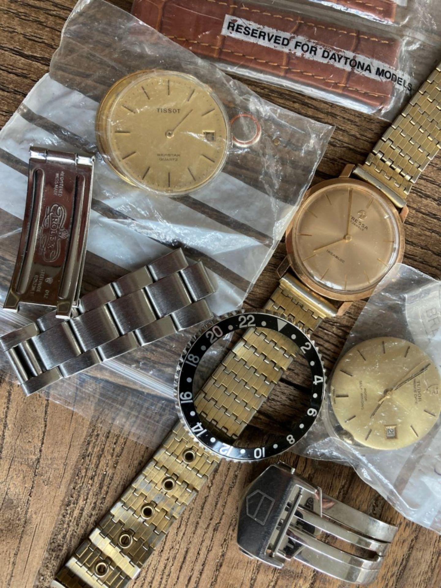 MIXED WATCH PARTS INC ROLEX GMT BEZEL, TUDOR, TAG, TISSOT ETC - Image 2 of 3