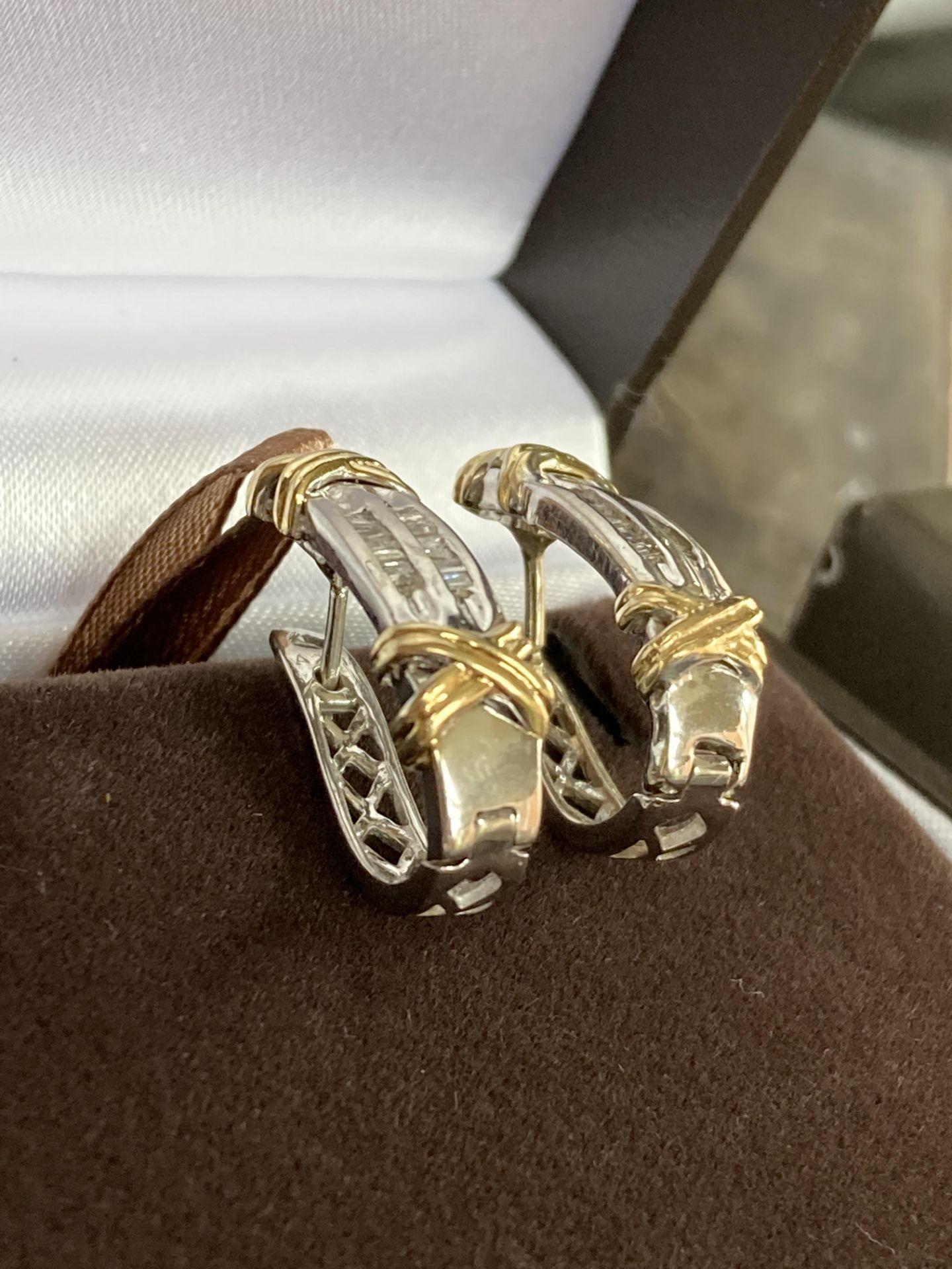 DIAMOND 14K EARRINGS - 0.4CT - Image 3 of 3