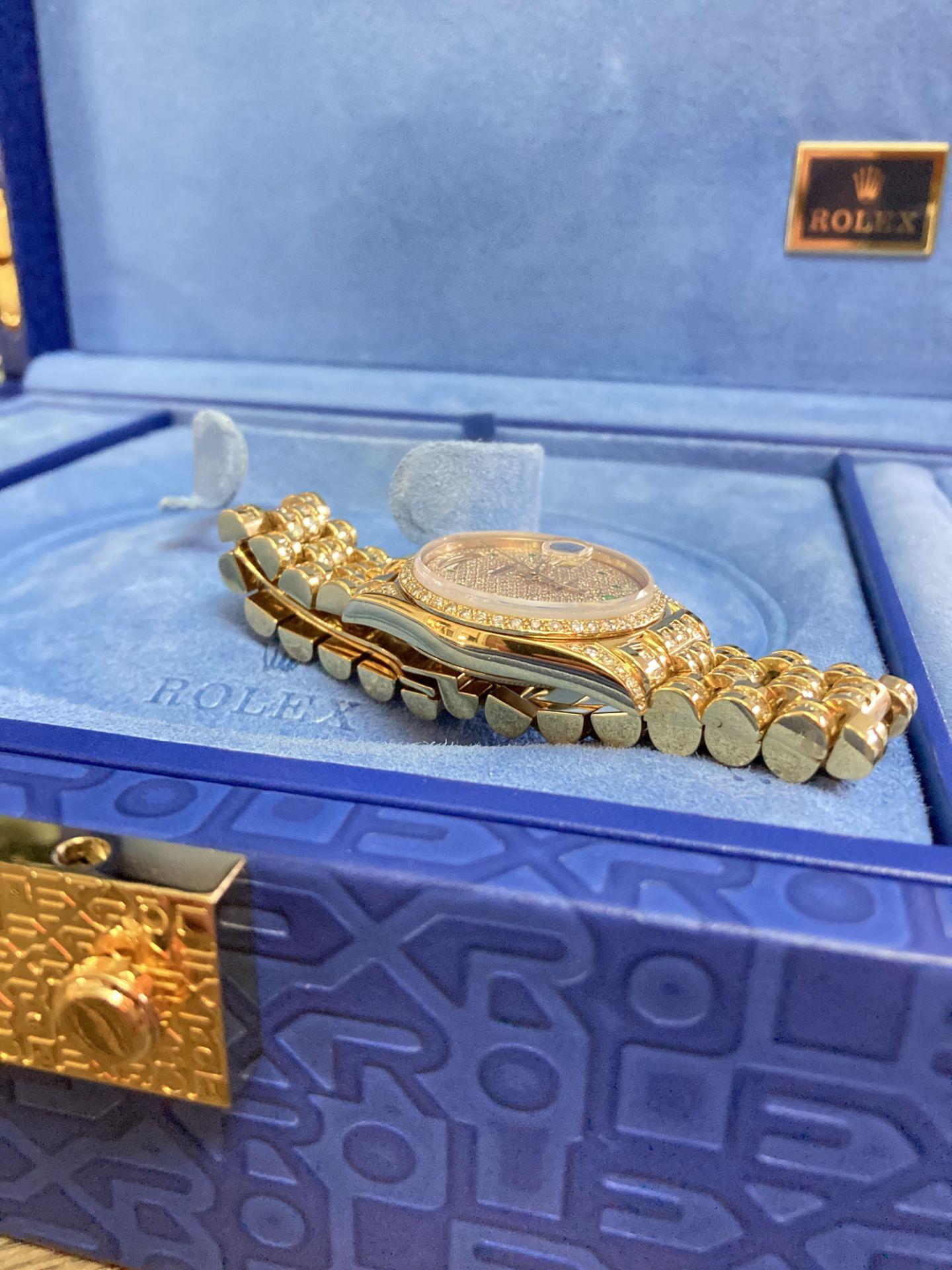 GENTS 36mm ROLEX DAYDATE YELLOW GOLD DIAMOND WATCH - Image 15 of 21
