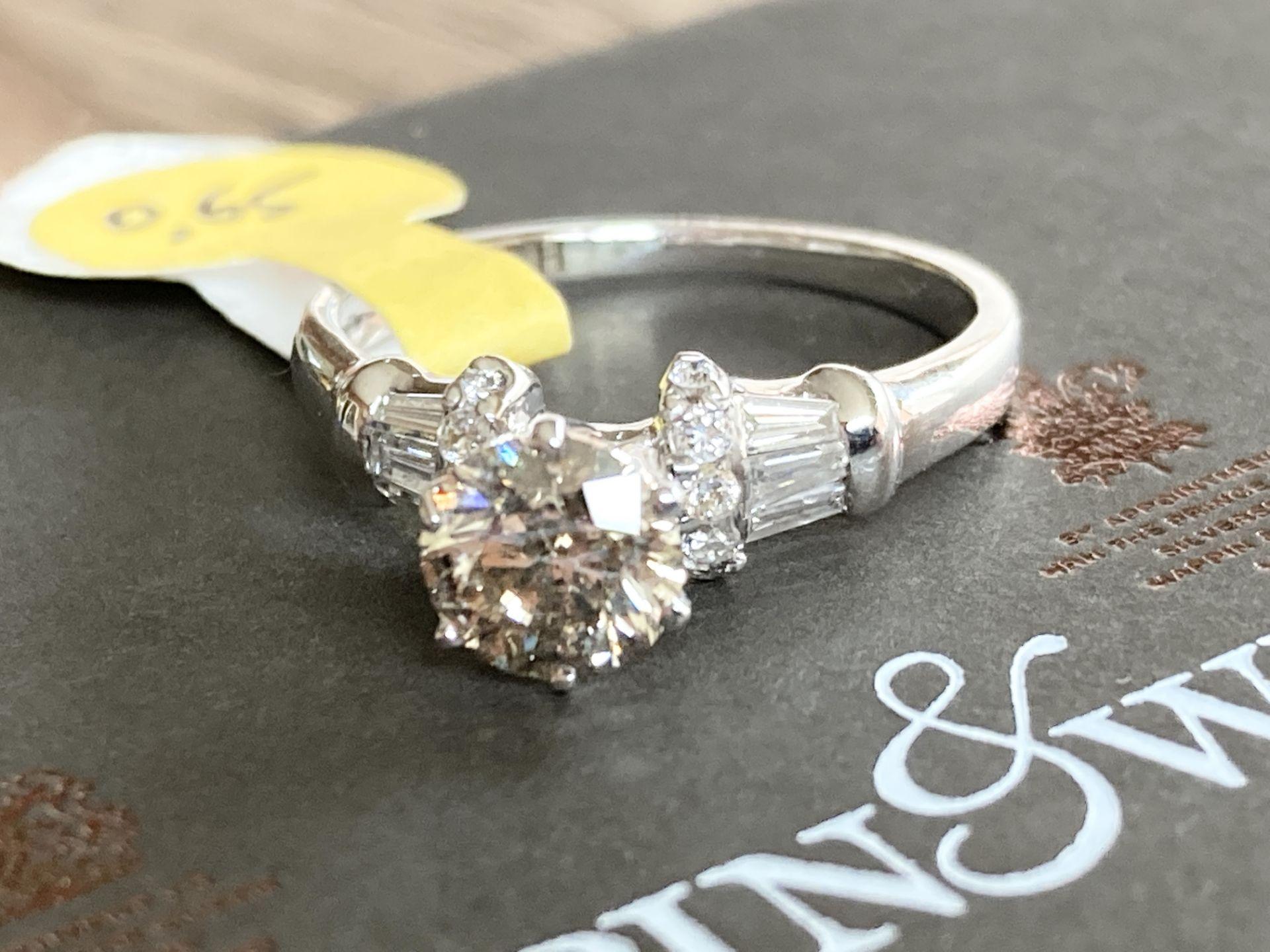 18CT GOLD 0.65CT DIAMOND RING