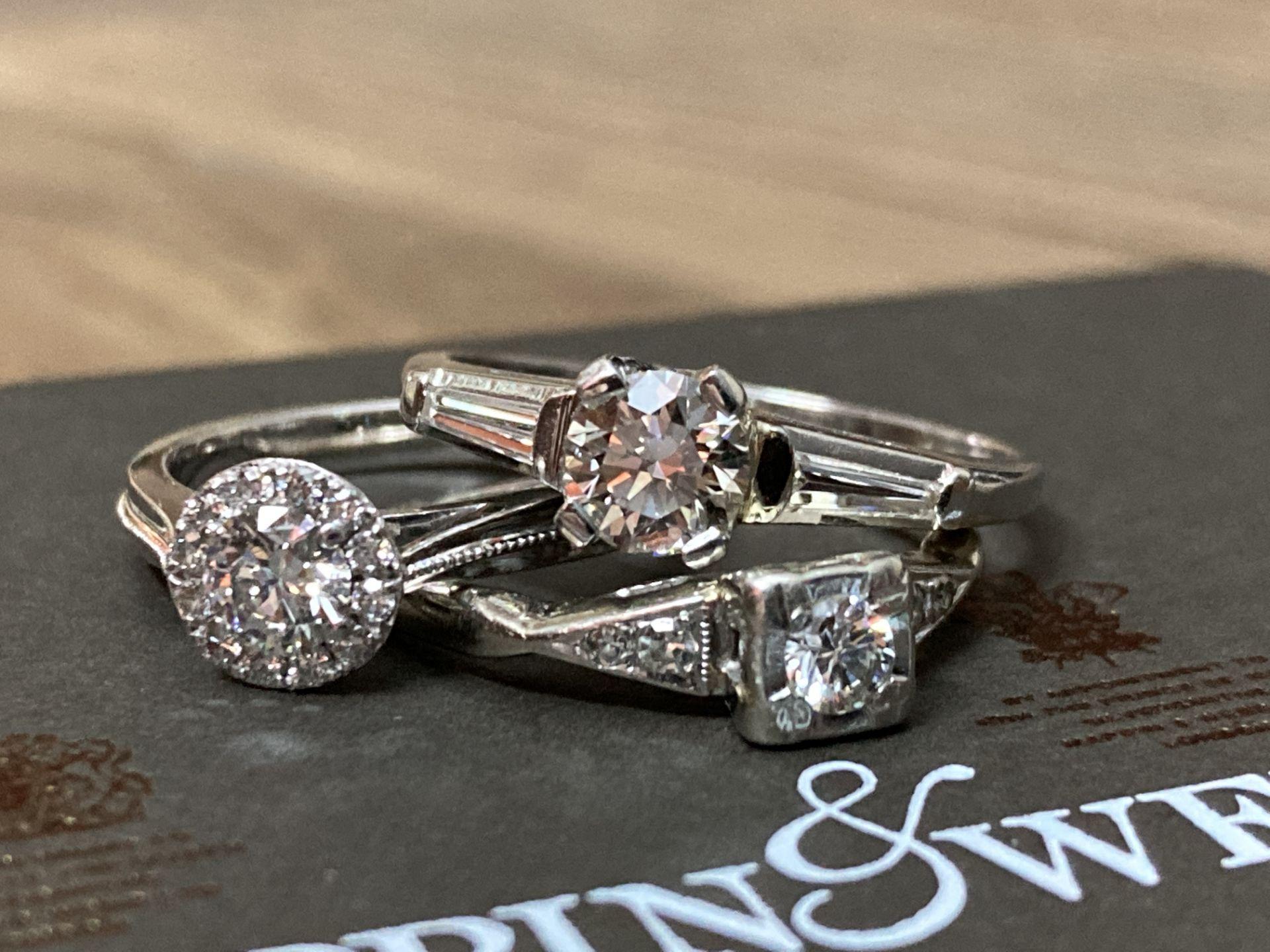 BEAUTIFUL TRIO OF DIAMOND RINGS - Image 6 of 6