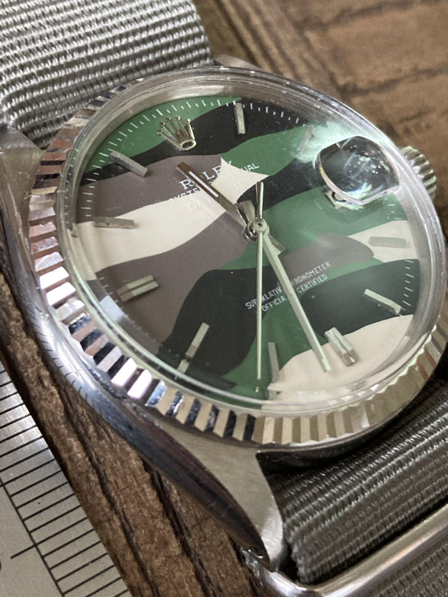 ROLEX DATEJUST 1601 - FLUTED BEZEL, CAMO DIAL - Image 2 of 5