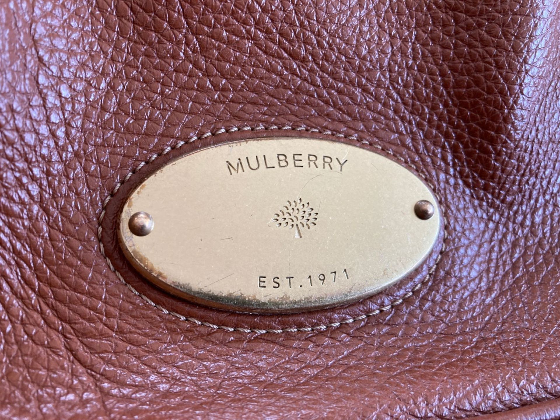 MULBERRY LEATHER HANDBAG - Image 2 of 6