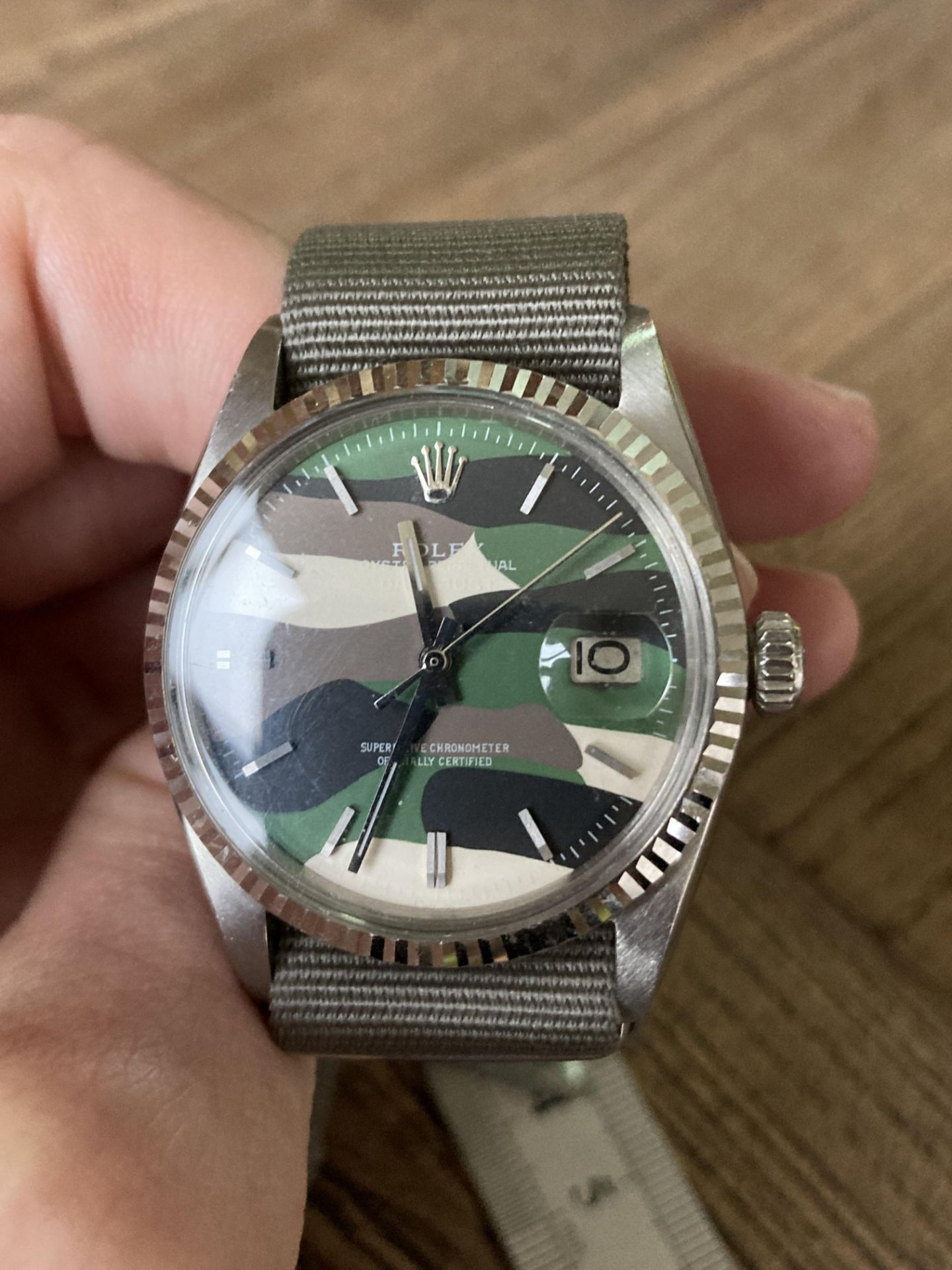 ROLEX DATEJUST 1601 - FLUTED BEZEL, CAMO DIAL - Image 5 of 5