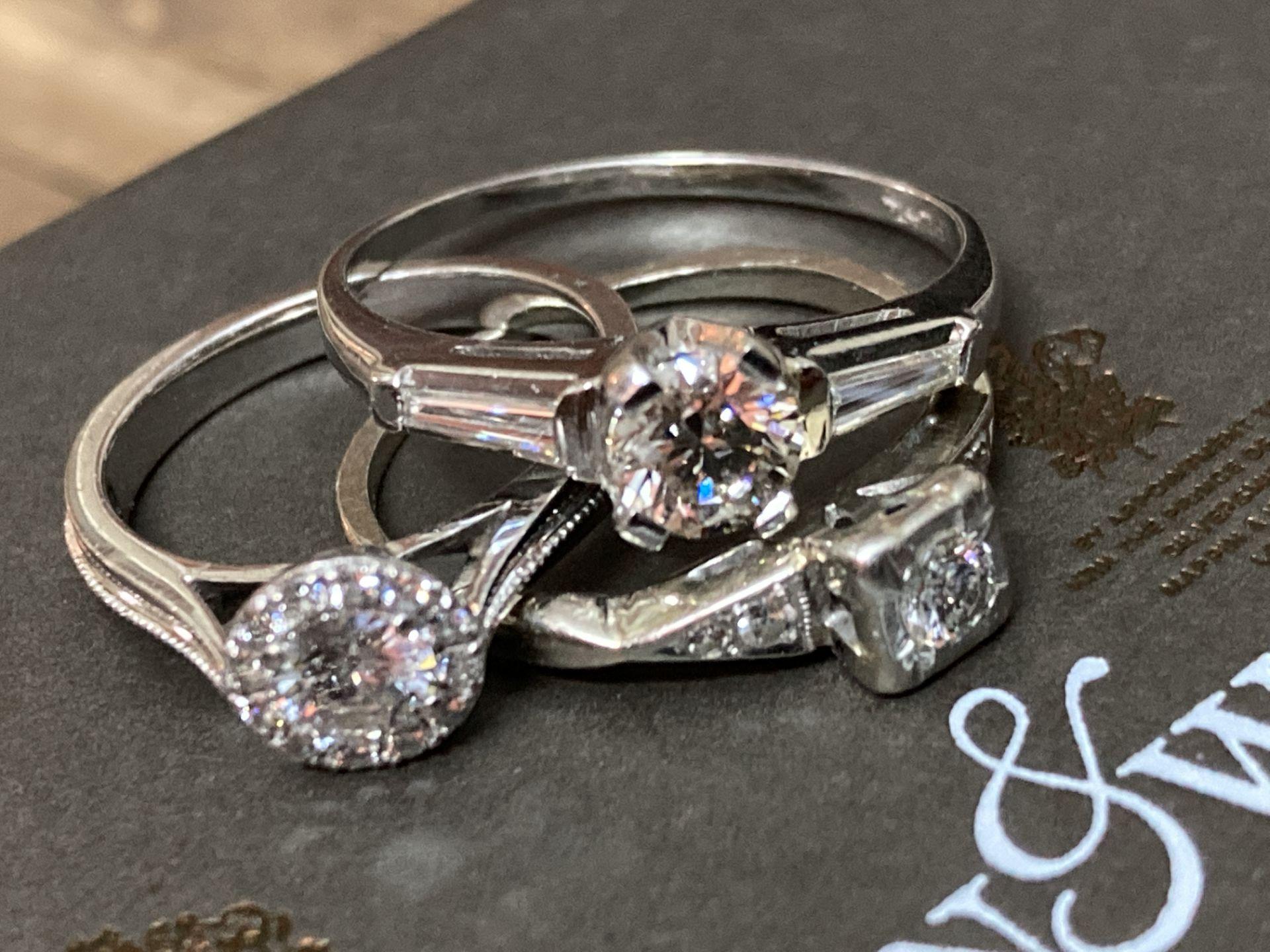 BEAUTIFUL TRIO OF DIAMOND RINGS - Image 5 of 6