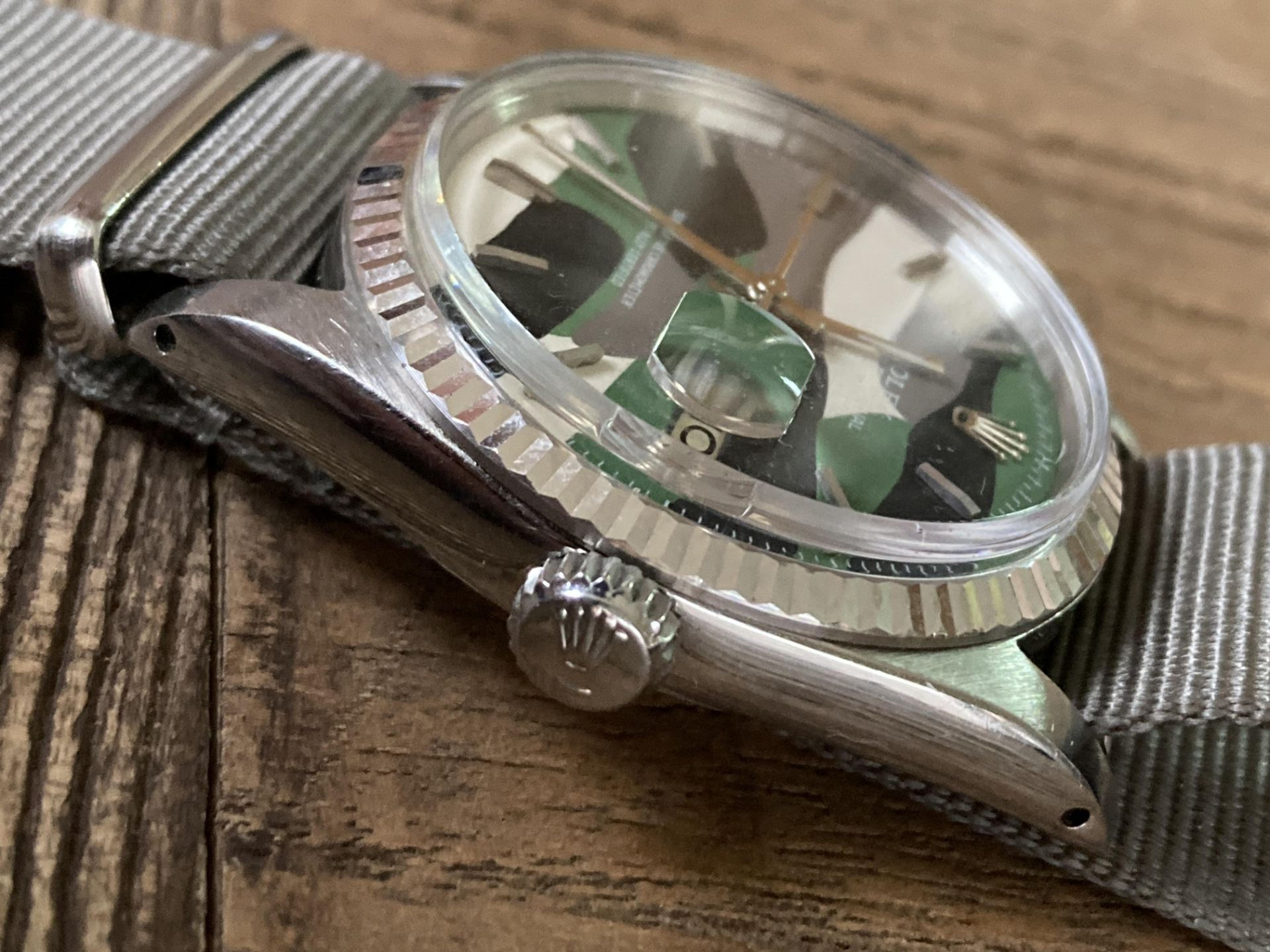 ROLEX DATEJUST 1601 - FLUTED BEZEL, CAMO DIAL - Image 3 of 5