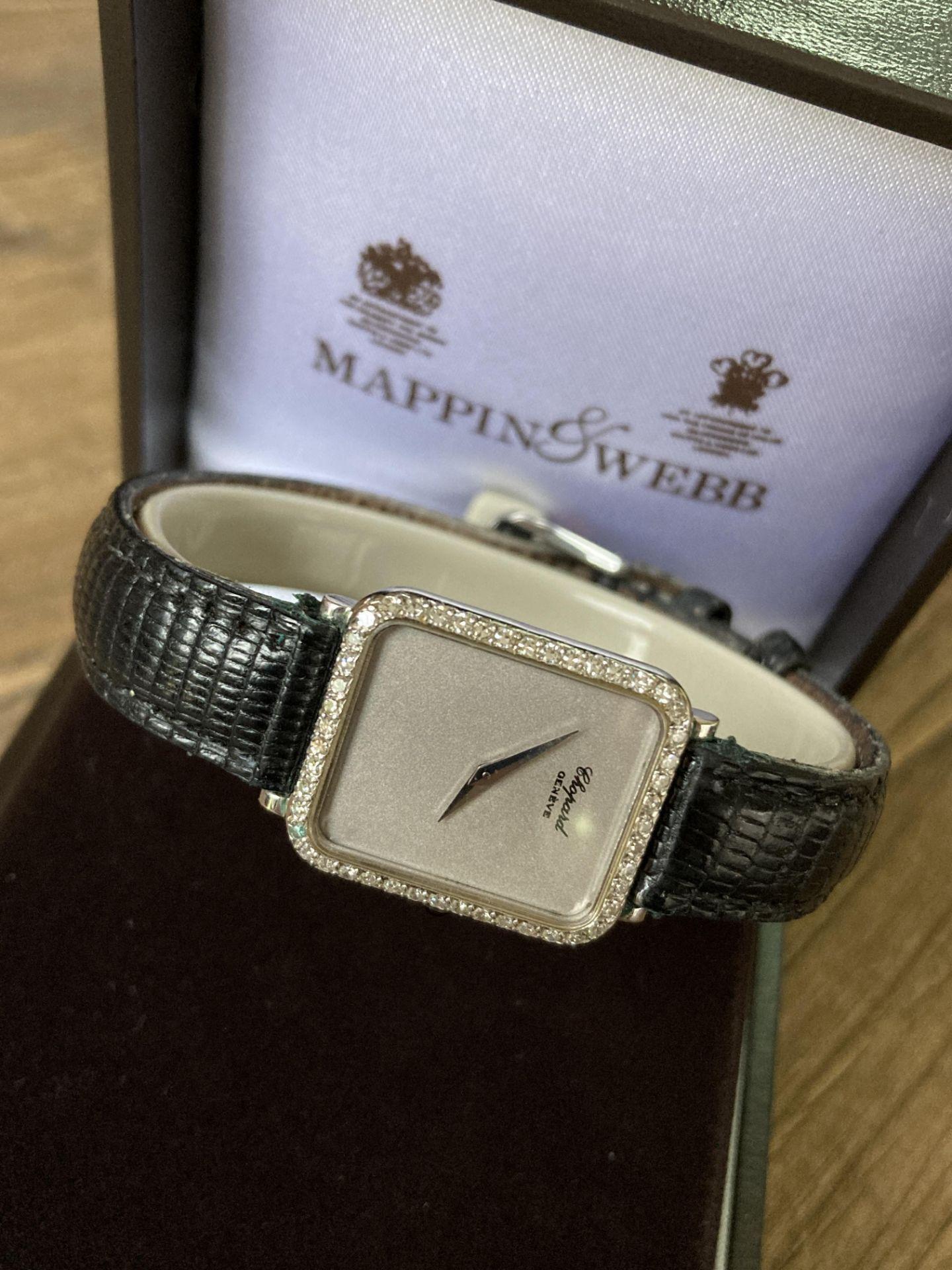 DIAMOND SET CHOPARD WATCH - WHITE GOLD, 20MM