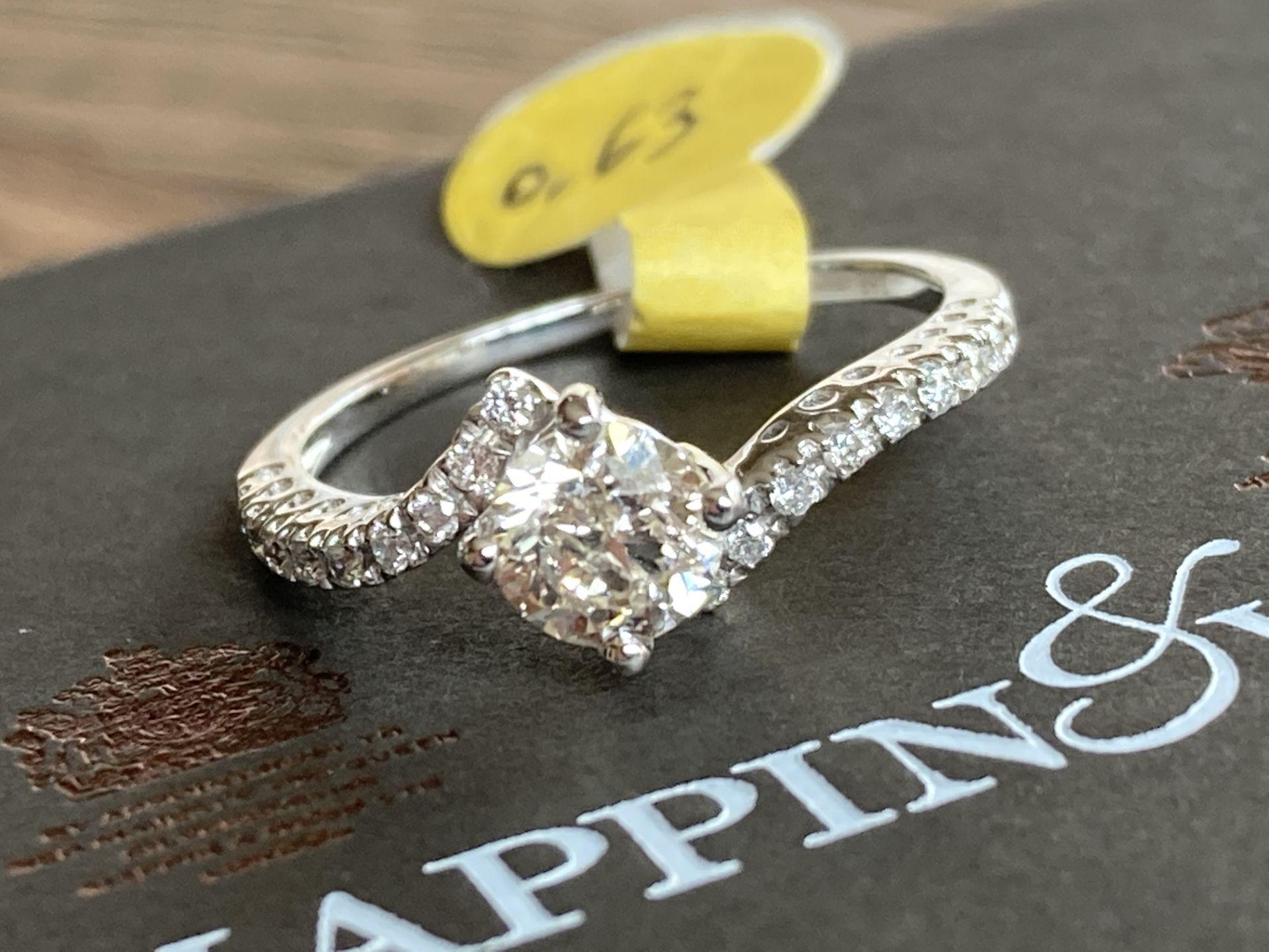 18CT GOLD 0.63CT DIAMOND RING