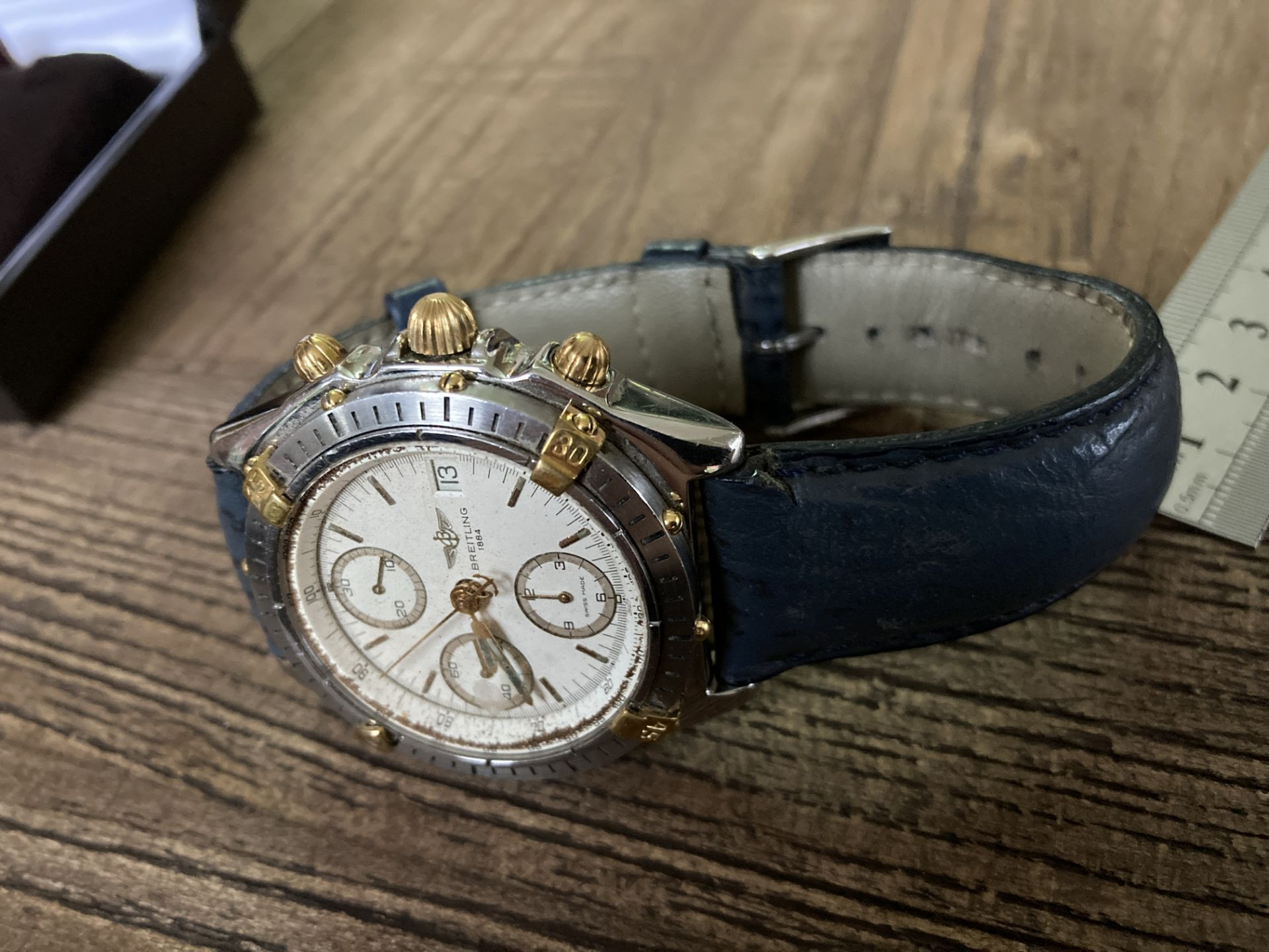 BREITLING B13048 STEEL AND GOLD CHRONO - 39MM APPROX. - Image 2 of 3
