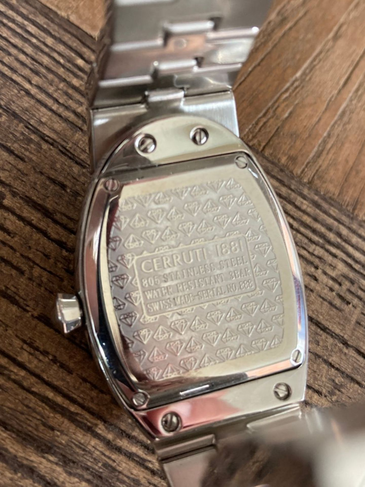 CERRUTI 1881 WATCH - DIAMOND SET - Image 4 of 5