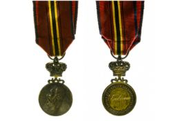 Royal and Central Society of Belgian Rescuers, BELGIUM, Silver gilt medal, by A. Fisch, attributed