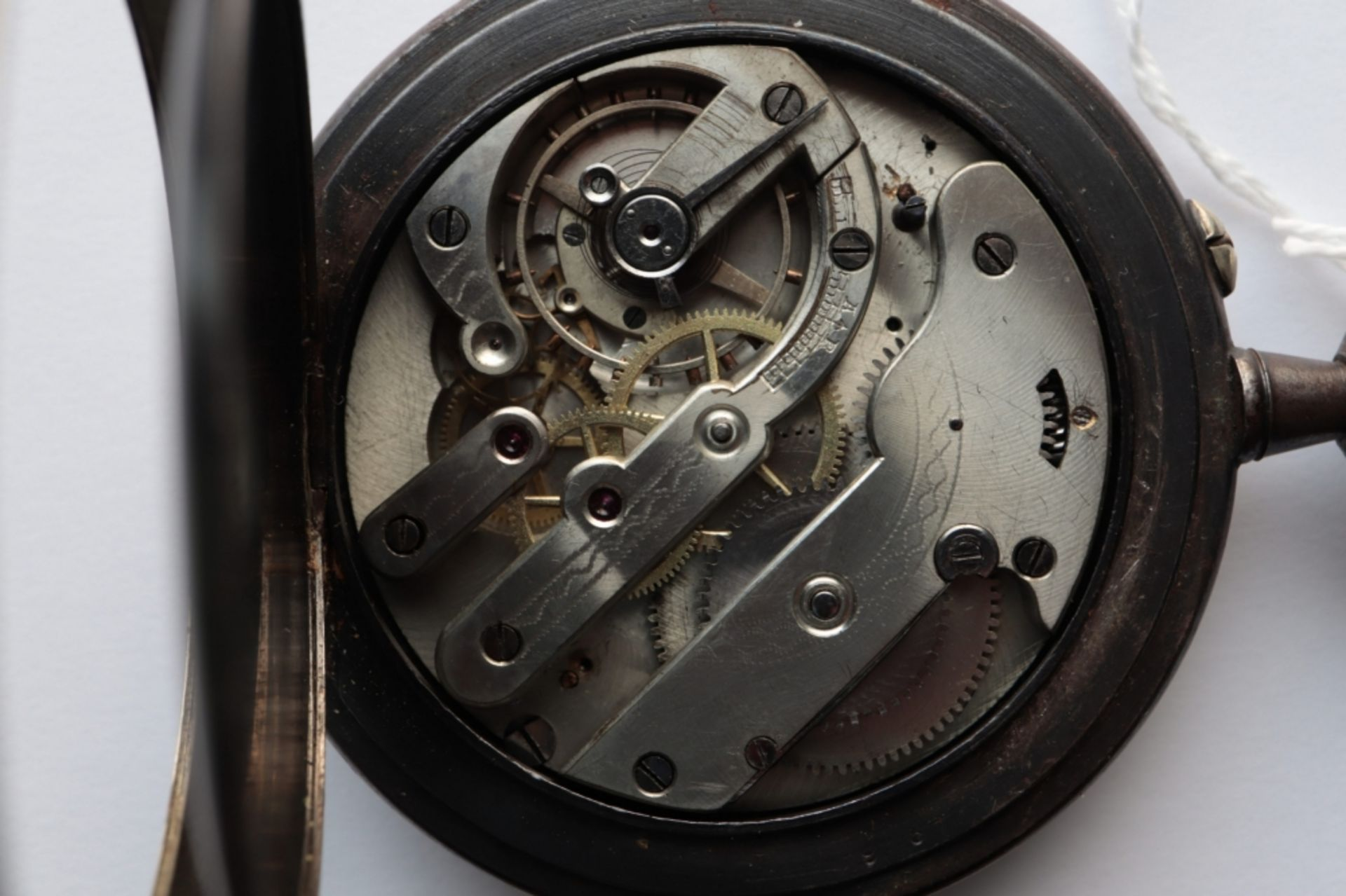 Lot of 6 watches including 4 pocket watches, a travel alarm clock and a wristwatch. - Image 6 of 7