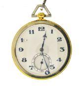Paul Ditisheim Paul Ditisheim fob watch SWITZERLAND 18 kt yellow and white gold pocket watch,
