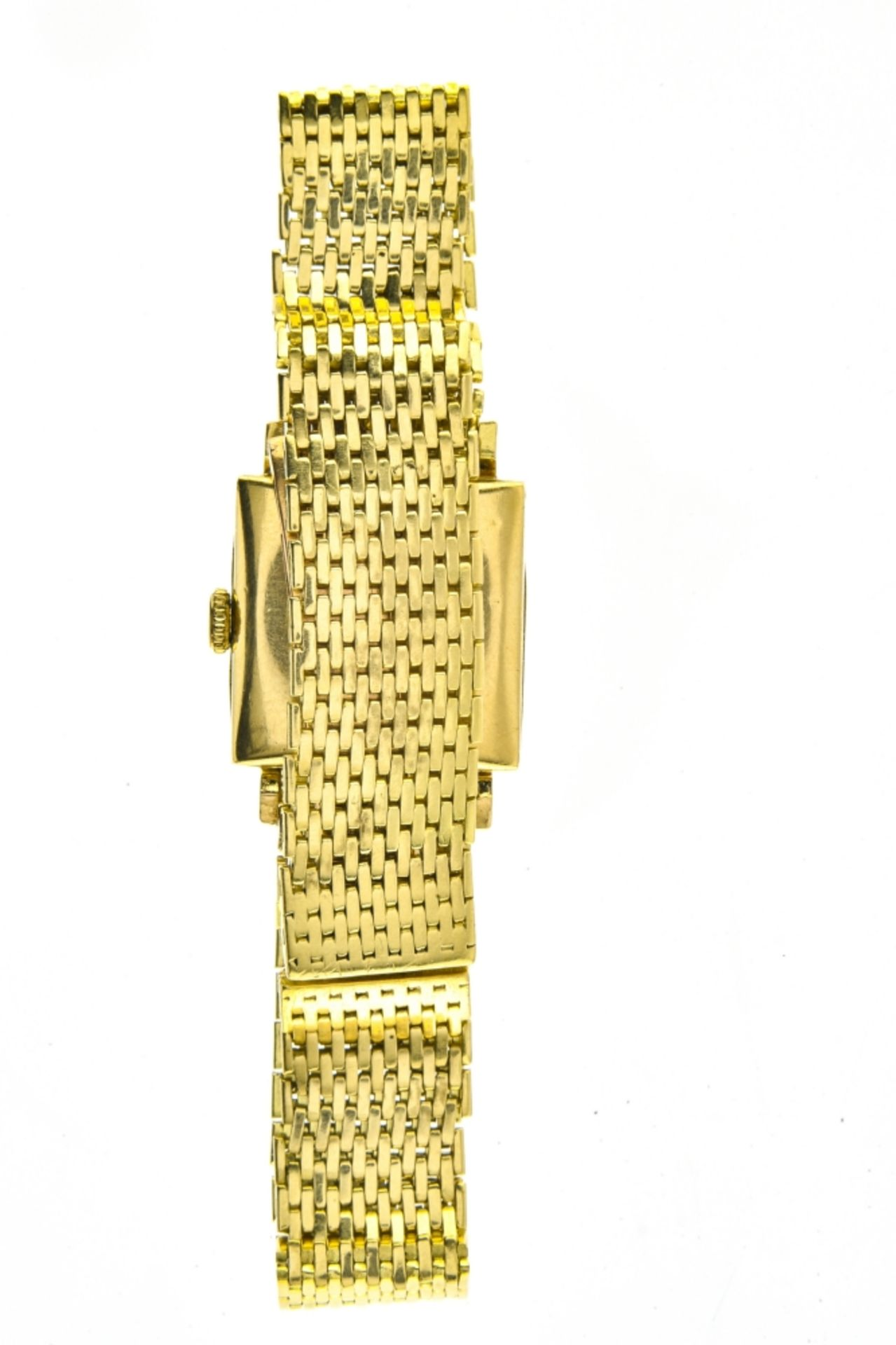 Square, yellow gold bracelet watch 18k yellow gold bracelet watch. Square, 18k yellow gold casing. - Image 3 of 4