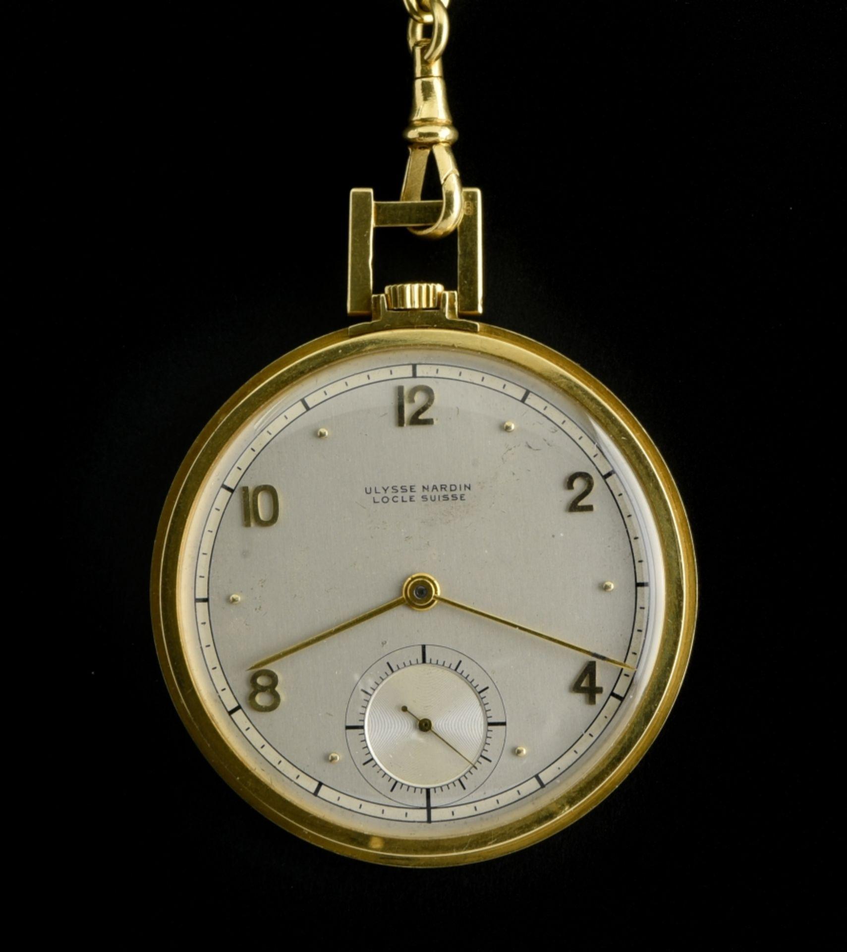 Ulysse Nardin Ulysse Nardin chronometer watch SWITZERLAND 18k gold Ulysse Nardin pocket watch.