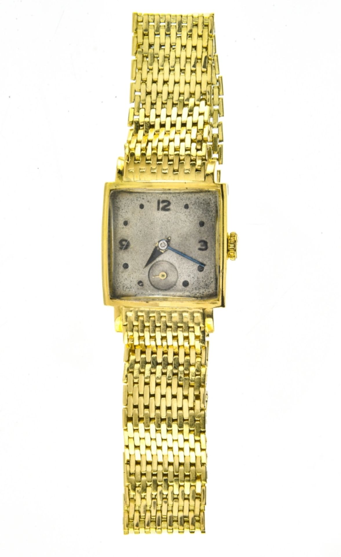 Square, yellow gold bracelet watch 18k yellow gold bracelet watch. Square, 18k yellow gold casing. - Image 2 of 4