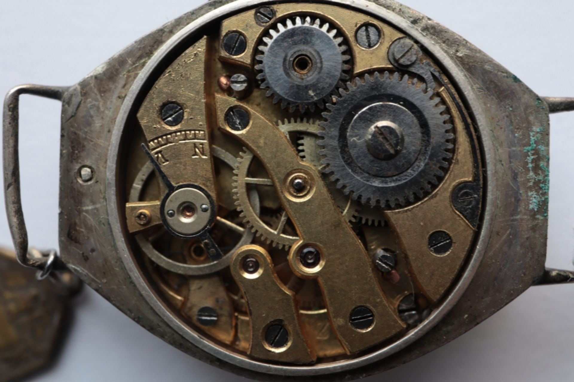 Lot of 6 watches including 4 pocket watches, a travel alarm clock and a wristwatch. - Image 3 of 7