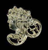 Travail Art Nouveau Piece of a parure glass