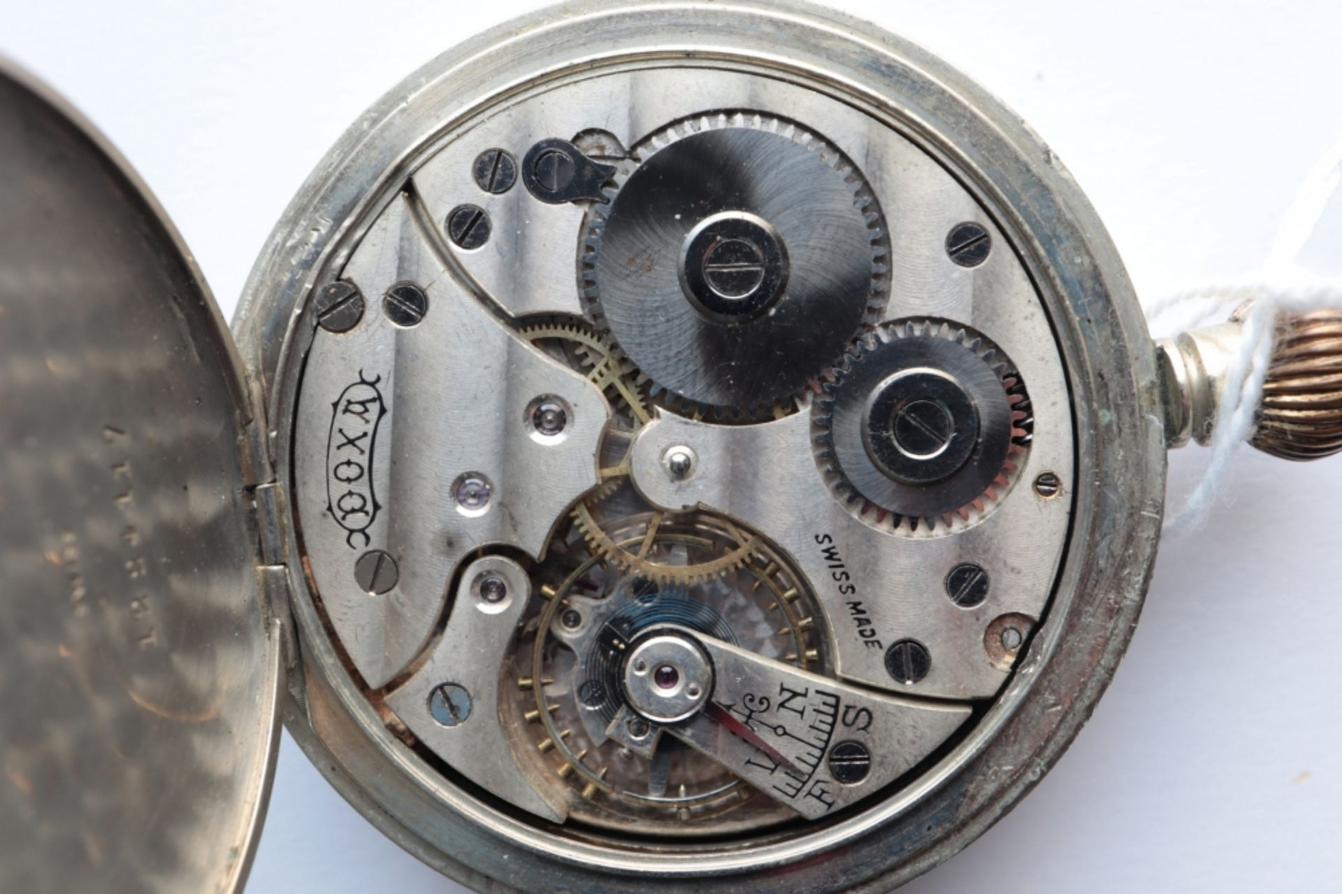 Lot of 6 watches including 4 pocket watches, a travel alarm clock and a wristwatch. - Image 5 of 7