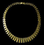 Draperie necklace 18 kt yellow gold. Hallmark 750 FO, likely Italian work. L : 41,5 cm Weight : 26,5