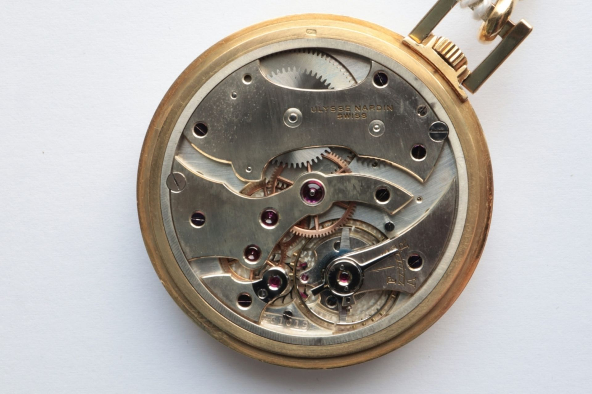 Ulysse Nardin Ulysse Nardin chronometer watch SWITZERLAND 18k gold Ulysse Nardin pocket watch. - Image 3 of 3