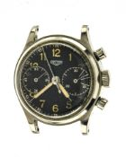 "Heuer Heuer chronograph bracelet watch SWITZERLAND 1940-1950 Heuer ""Big Eyes"" manually-wound steel"