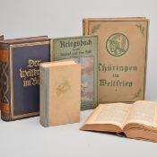 """Konvolut Weltkriegsliteratur insg. 6 versch. Ausgaben, dabei: 1 x 2 Bände """"Der Weltkrieg im Bild"""","""