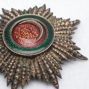 Osmanje-Orden (Nisan-i Osmani) Türkei großer Bruststern 2. Klasse, Silber, teilw. vergoldet, emai