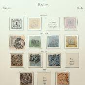 Sammlung Briefmarken Altdeutschland gestempelt, dabei: 1 x Posten Baden, u.a. 3 Kreuzer (Mi.-Nr. 2)