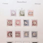 Sammlung Briefmarken Deutsches Reich gestempelt, von den Brustschildausgaben, über Freimarken Reic