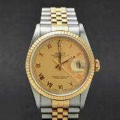 Herrenarmbanduhr ROLEX, Modell: Datejust Oyster Perpetual, Referenz 16233, Automatik, Chronometer d