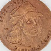"""Medaille """"500. Geburtstag Raffaelo Santi"""" Bronze, Hersteller: Bronzegießerei Hans Füssel - Ingrid"""