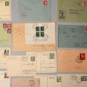 Konvolut Briefe, Karten, Ganzsachen III. Reich insg. an die 50 Briefe, Karten, Ganzsachen, dabei u.