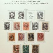 Sammlung Briefmarken USA umfangreich Sammlung gestempelt, ab Mi.-Nr. 8 1857/60 bis ca. 1944, mit ei